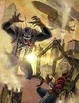Steampunk Spidey vs. Venom