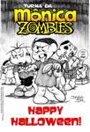 MONICA ZOMBIES Halloween card