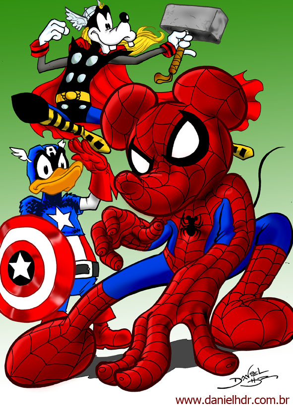 Part 14 / 8 - Page 2 Marvel_and_Disney_by_danielhdr