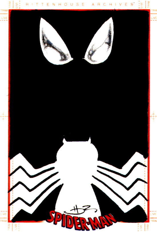Black Spider man card by danielhdr