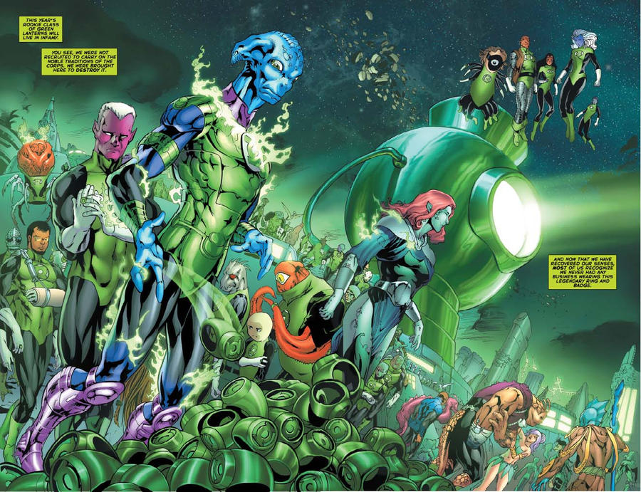 Green Lantern Corps 61 preview by danielhdr