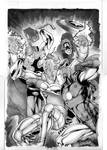 Avengers vs ULTRON commission
