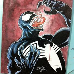 Venom sketch card by danielhdr