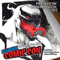 PRE SHOW NYCC COMMISSION LIST OPEN