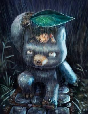 Monster in the rain by BryanHeemskerk