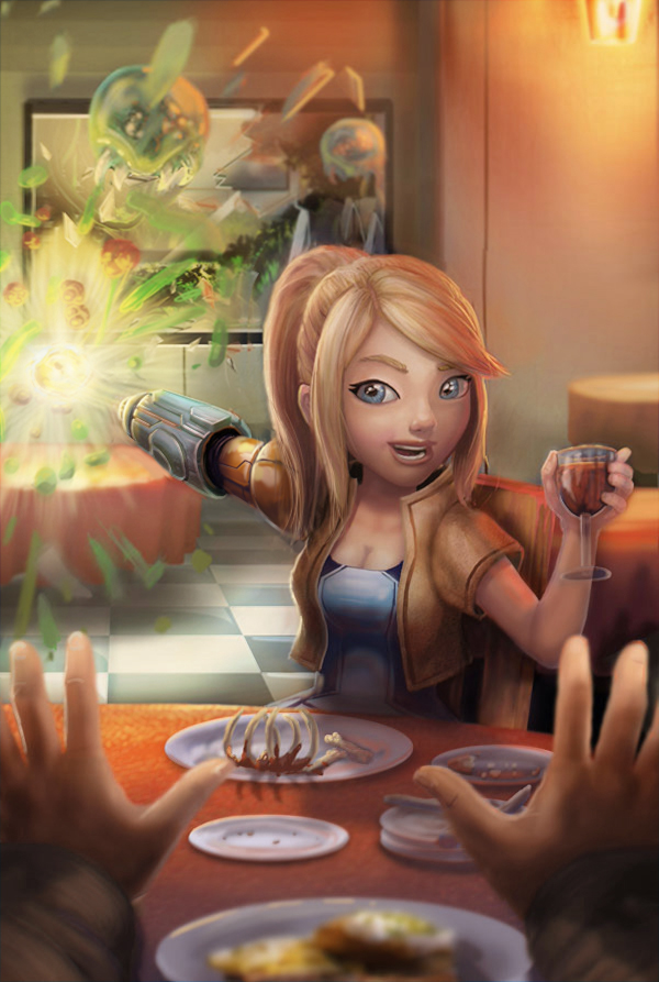 Smash Date: A Date With Samus Color Correct by BryanHeemskerk