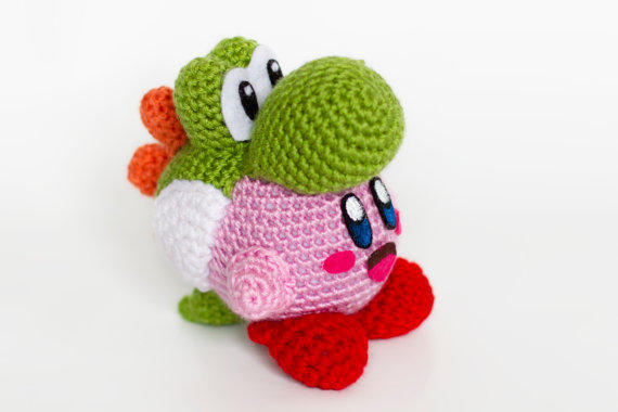 Amigurumi Nintendo Mario Game Character Yoshi with Free Online ... | 380x570