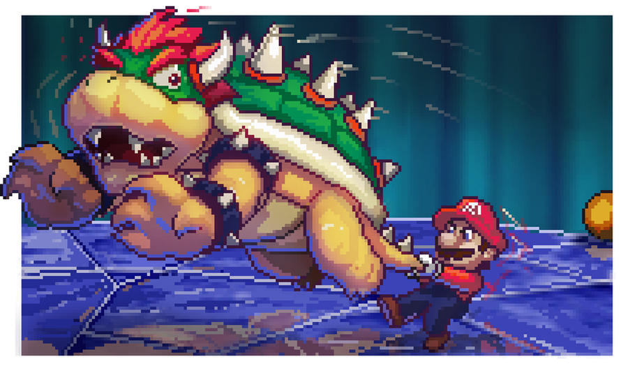 Mario 64 N64 Tribute Pixel Art by BryanHeemskerk
