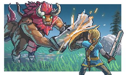Legend of Zelda Breath of the Wild Pixel Art by BryanHeemskerk