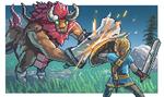 Legend of Zelda Breath of the Wild Pixel Art