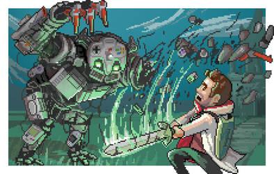 Hero of Gaming vs the CONSOLE GOLEM! by BryanHeemskerk