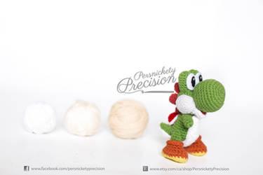 Crochet Yoshi from Yoshi's Woolly World by BryanHeemskerk