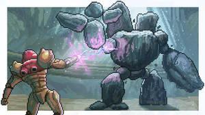Metroid Prime Pixel Art : Dear Nintendo / Retro