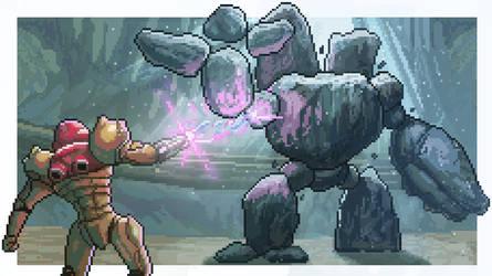 Metroid Prime Pixel Art : Dear Nintendo / Retro by BryanHeemskerk