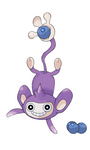 Aipom catching a berry
