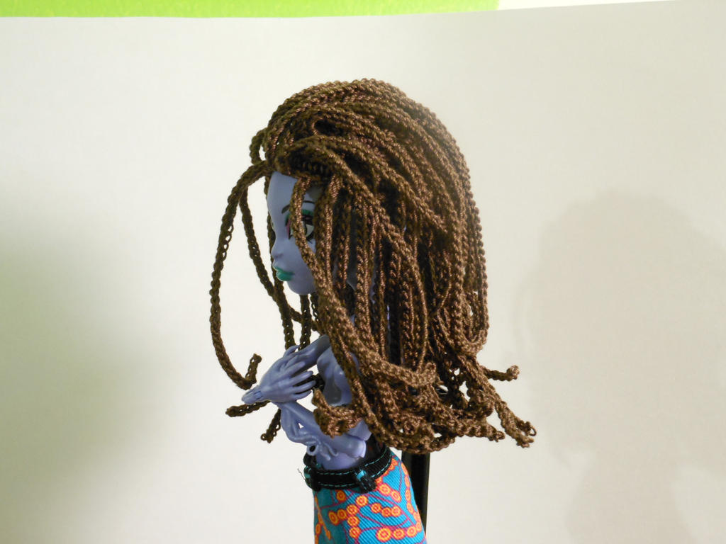 Crochet Hair Micro Braids : Crochet Brown Micro Braid Wig Monster High Side by BrianaDragon on ...