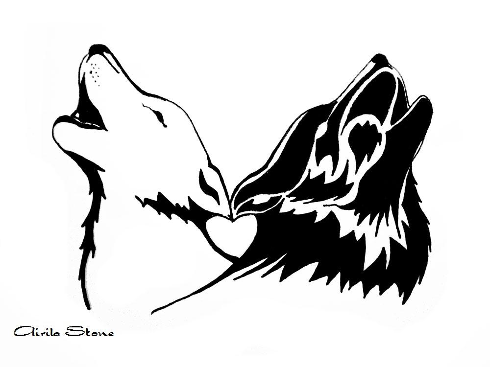 wolf tattoo by wildzyria on deviantart. Black Bedroom Furniture Sets. Home Design Ideas