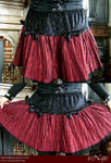Red gothic skirt with bows