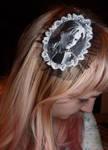 Lacrimosa handpainted hairclip