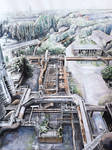 Industrial landscape by xNatje