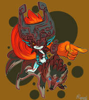 Midna and Wolf Link by LegendWaker