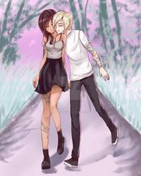 [Commission Art] A Cute Couple