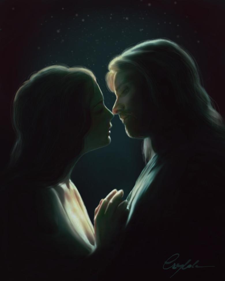 Arwen and Aragorn by Aegileif