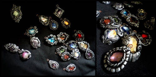 Shiny, shiny pendants by Aegileif