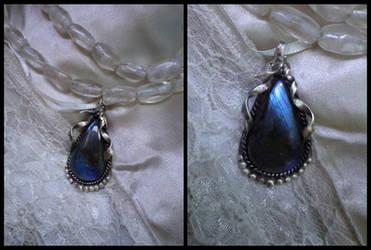 Blue Ballerina Pendant by Aegileif