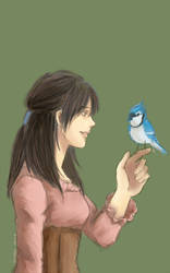 Rei and Bluejay by irenerei