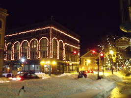 Downtown In Snow