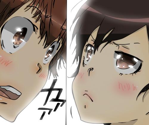 KHR Manga - Haru x Tsuna Colorized by ShirogawaTeru