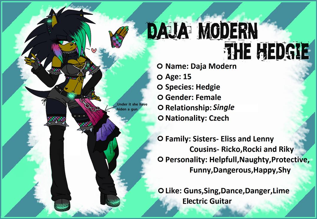 Xxx:..Daja Modern The Hedgie REF 2013..:xxX by DajaModernTheHedgie