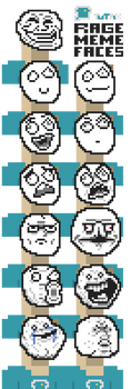 Pixel Art Troll Meme Faces by Sadasant