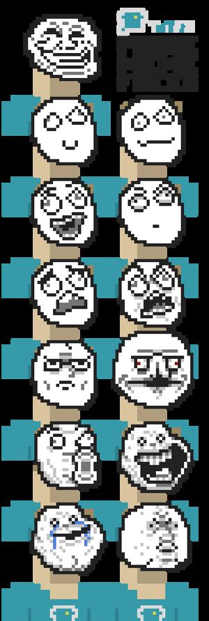 Pixel Art Troll Meme Faces
