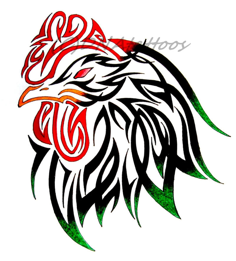 Rooster tribal by weedenstein on deviantart - Cock designing ...
