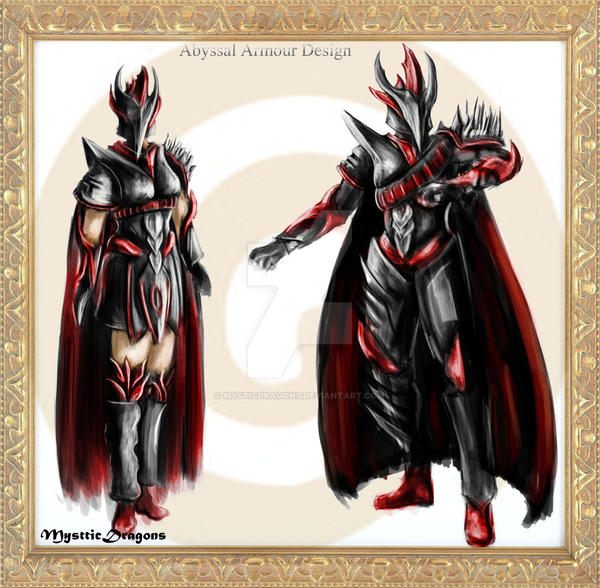 Abyssal Armour Concept Runescape Fanart By Mysticdragons On Deviantart