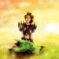 Cute Torva Girl - Runescape Fanart by MysticDragons