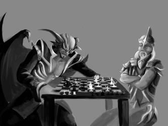 Saradomin vs Zammy WIP by MysticDragons