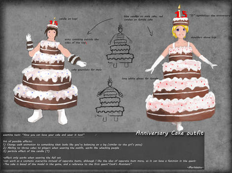 Cake outfit by Marikdebie