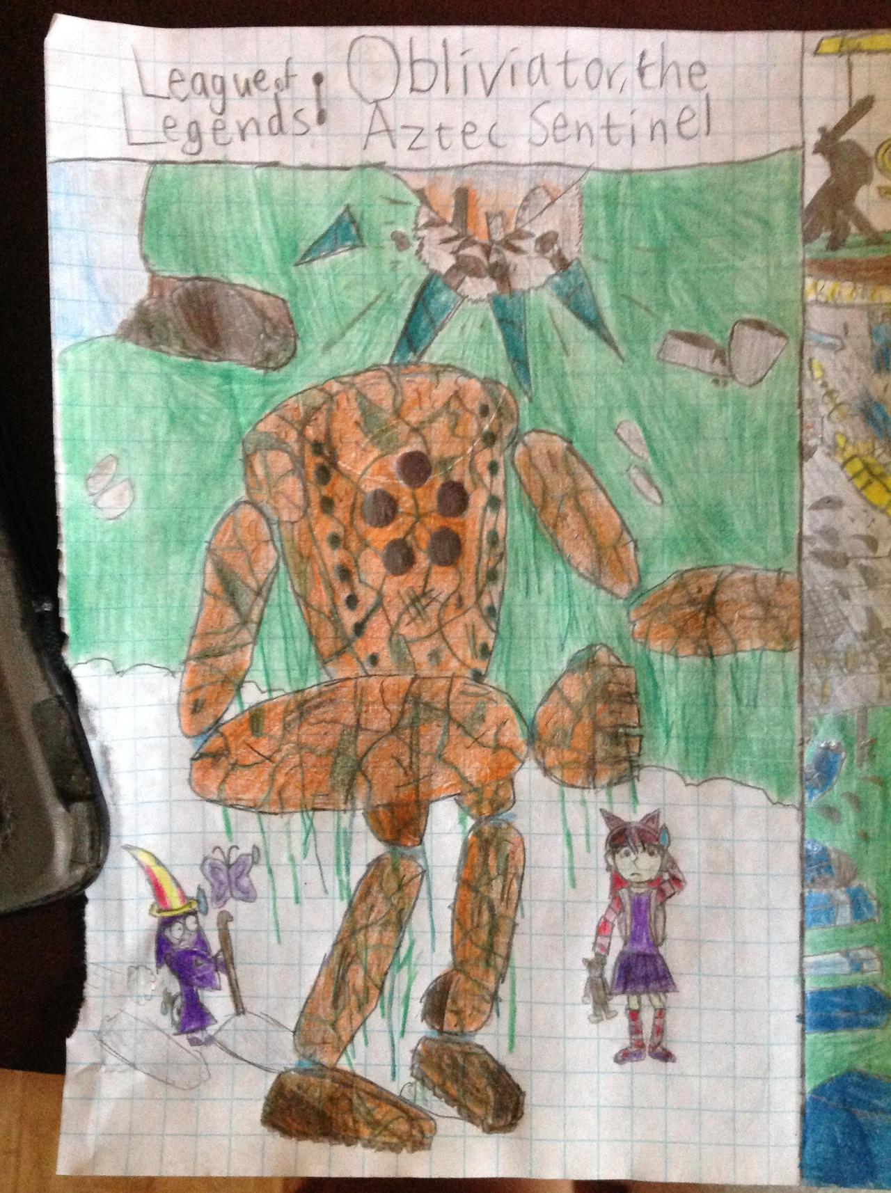 League of Legends - Obliviator, the Aztec Sentinel by derekguo31