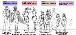 Apostasy: Four Races Lineup by jek-sketch