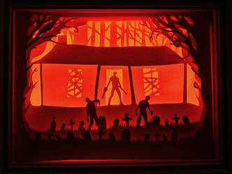 Army of darkness papercut lightbox by christophosaure