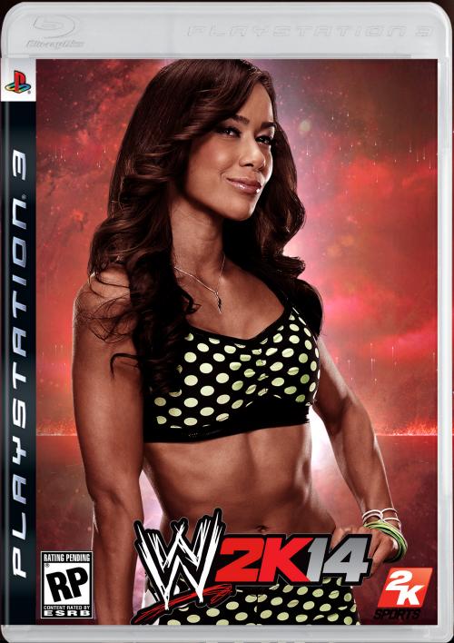 AJ LEE COVER WWE 2K14 by djmarco3399