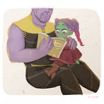 Thanos and Gamora by Lemanntim