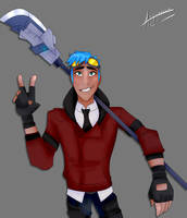 RWBY Art Challenge Day Four: SSSN Team Member by ColorInPlatinum