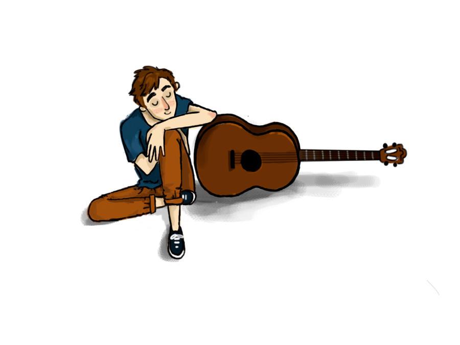 Clip Art Guitar Gently Weeps 1 Clip Art Vector Site