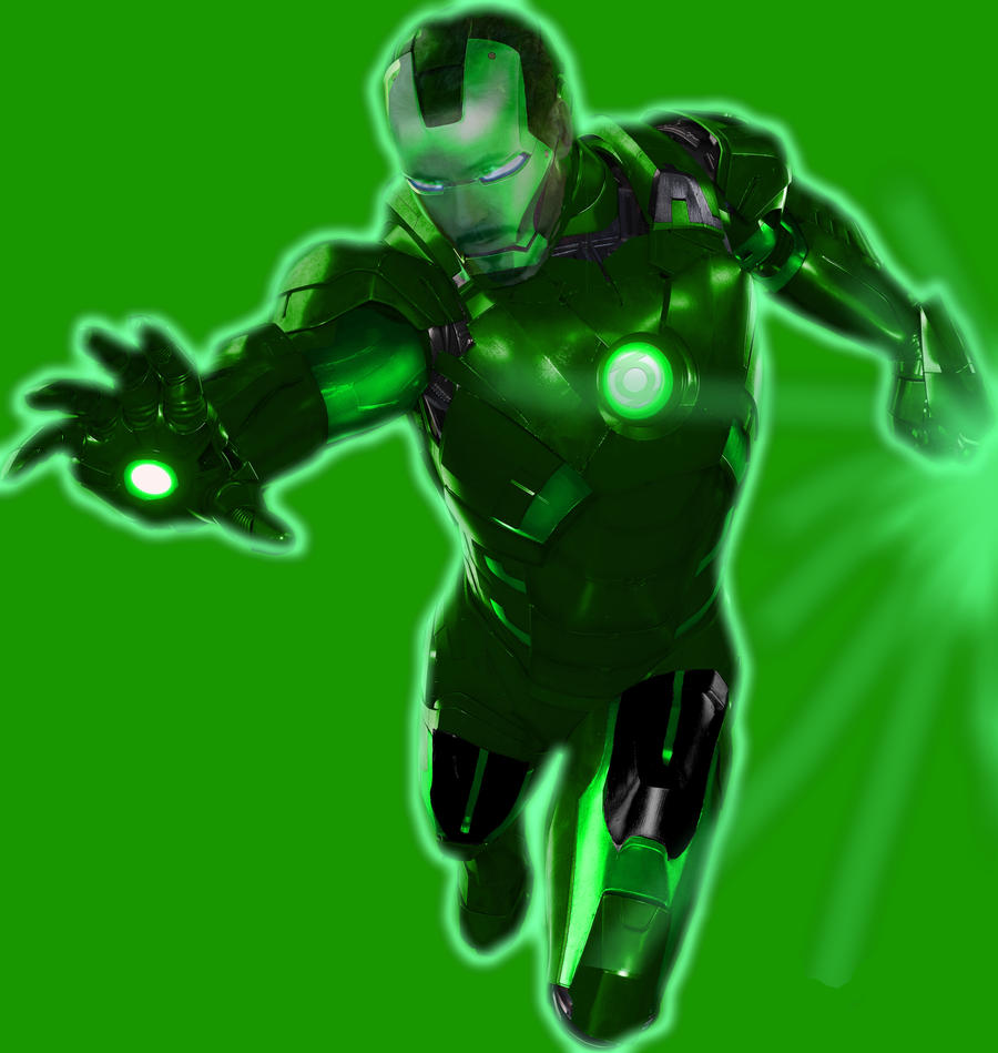 Green lantern iron man suit