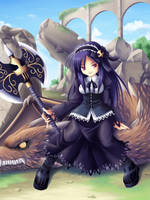 Goth warrior, Windona by maxwindy