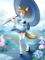 Ukina, the fox of rain by maxwindy